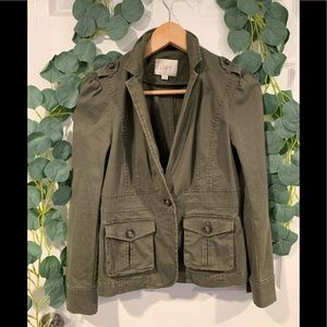 Loft utility style olive blazer